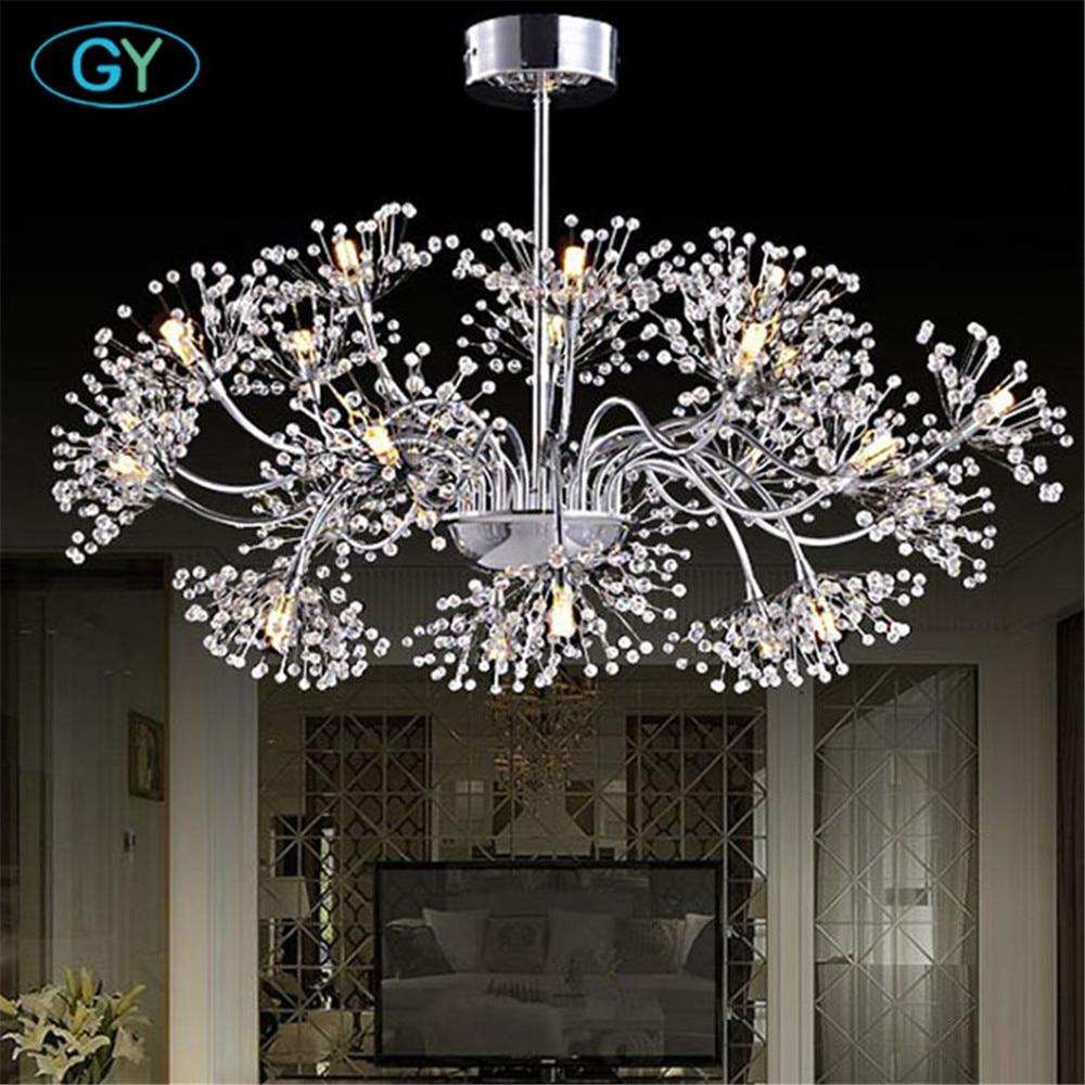 Modern Art decor chrome tree chandeliers 24pcs G4 led branch lustrues for home store restaurant industrial