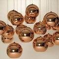Современный светодиодный хромированный Золотой медный стеклянный глобус круглый шар подвесные светильники подвесное освещение для столо...