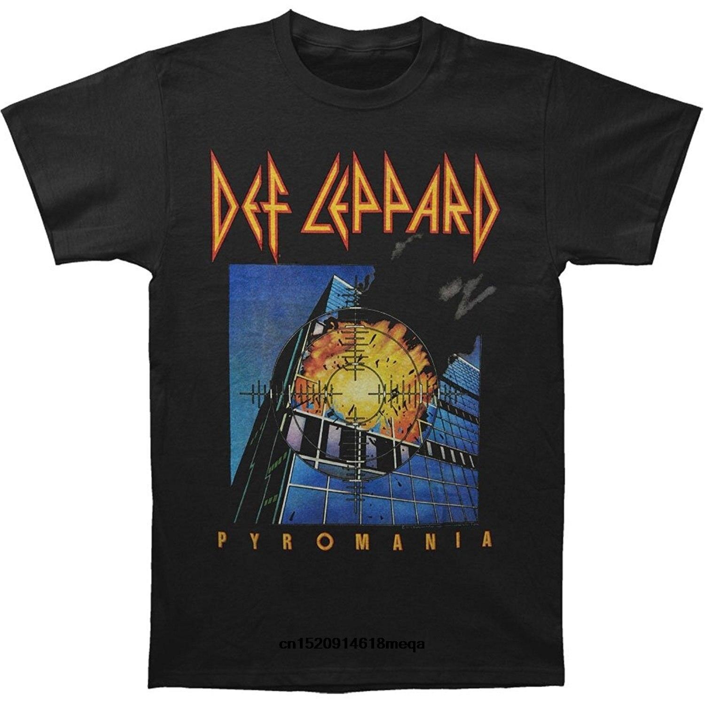 Gildan funny t shirts Def Leppard Men's Pyromania Cover T