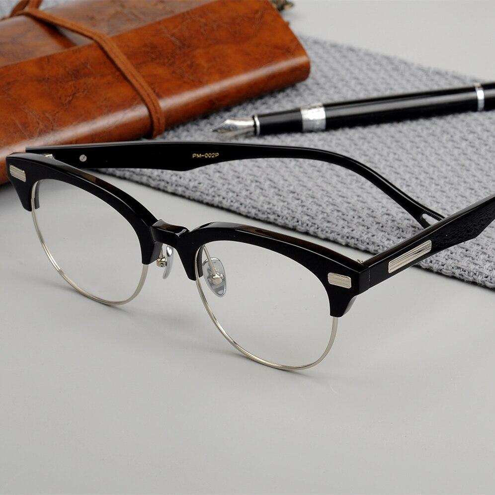 Limited edition Vintage acetate eyeglass frame John M Master favor retro halfrim eyewear women men original