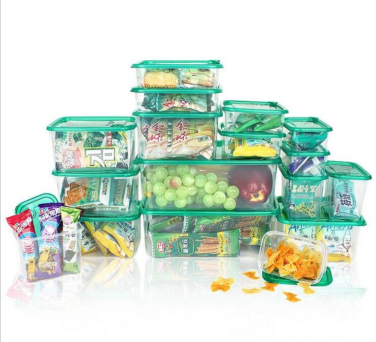 1 Sets 17 Pcs Sealed Crisper Refrigerator Food Storage Box Preservation Box  Eco Friendly Plastic Food Container In Storage Boxes U0026 Bins From Home U0026  Garden ...