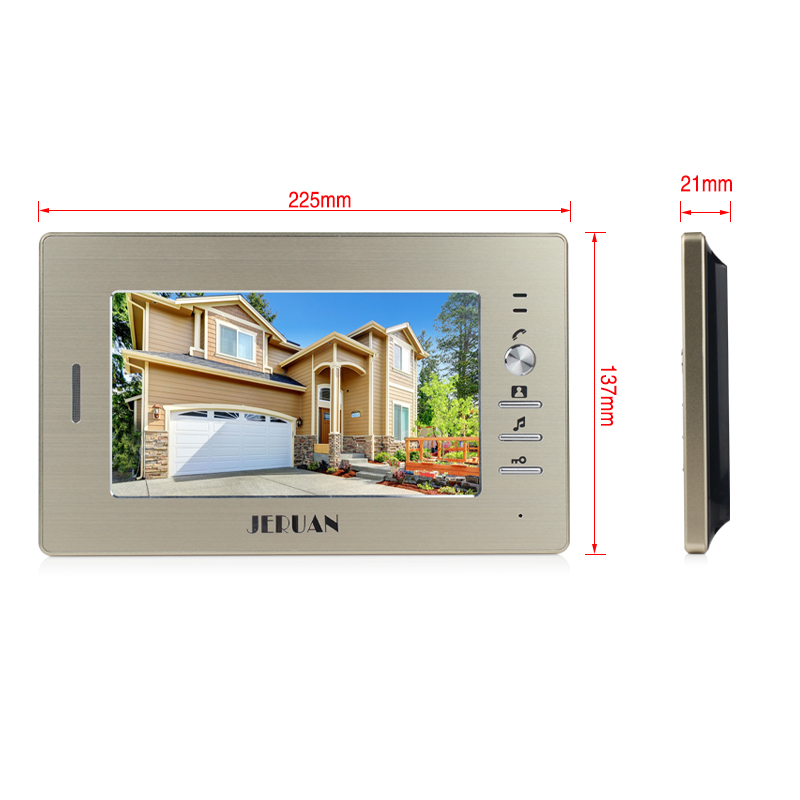 JERUAN Brand New Apartment Intercom System 5 Monitor Wired 7 Color Video Door Phone intercom System for In Stock FREE SHIPPING