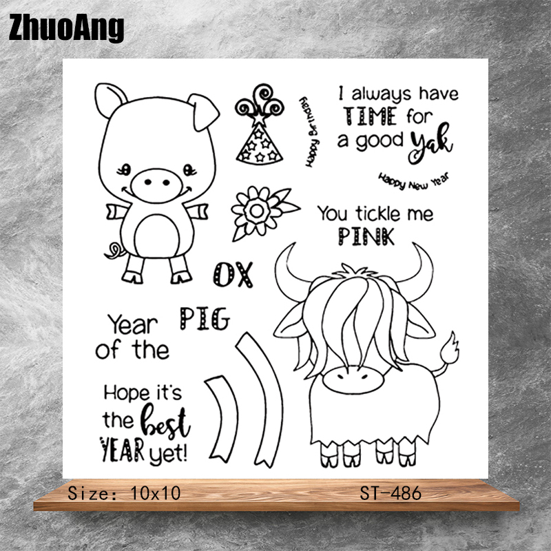 Happy little friend Transparent Clear Stamps DIY Scrapbooking Album Card Making Decoration Embossing Stencil
