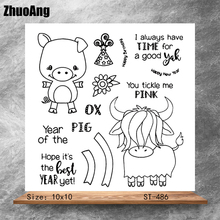 Happy little friend Transparent Clear Stamps DIY Scrapbooking Album Card Making DIY Decoration Making Embossing Stencil happy birthday words clear transparent stamps diy crafts card album making stencil decor scrapbooking embossing new stamps 2019