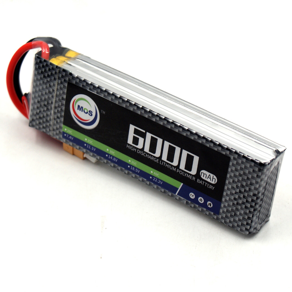 MOS 3S RC Lipo battery 11.1v 6000mAh 35C Max 70C For RC Airplane Helicopter Truck AKKU Batteria Free shipping