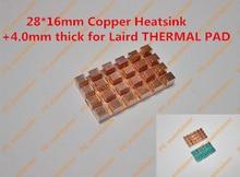 28 16mm Copper Heatsink 4 0mm thick for Laird THERMAL PAD Pure Copper MINI PCI E