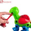 Diy tamaño grande desmontable niños juguetes para niños de bebé infantil del clásico animales robot dinosaurio educativo figuras de juguete para niños niñas regalos