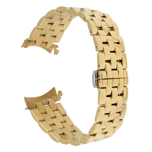 Image 3 - 18mm 20mm 22mm 24mm Paslanmaz Çelik saat kayışı Kavisli Uç Kayışı Frederique sabit Kordonlu Saat Kelebek Toka bilezik