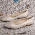 Wedopus Горячий Продавать Острым Носом Плоские Свадебная Обувь Кот Атласная Женская Обувь Dropshipping