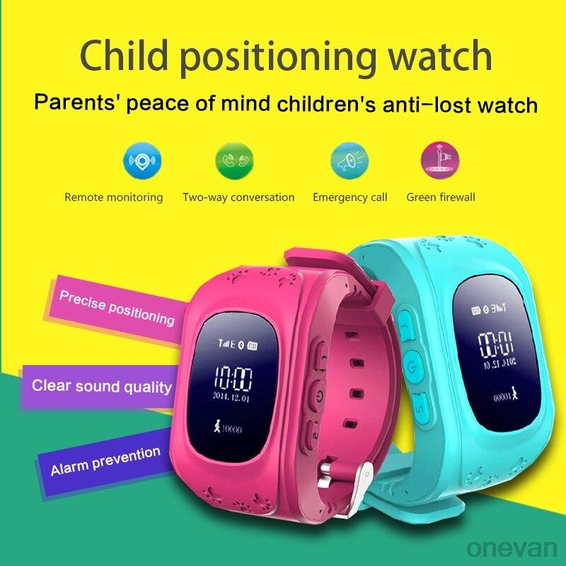 Q50 reloj inteligente GPS Tracker SOS montre-bracelet intelligente surveillance positionnement téléphone enfants GPS bébé montre Compatible IOS Android