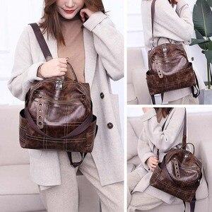Image 5 - Women Vintage Backpacks Multi function High Quality Leather Backpack For Girls Large Female Bag School Shoulder Bags 2020 XA266H