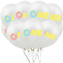 10Pcs 12Inch Donut Latex Oh Baby Printed Balloons Birthday Decorations kids Balloon Babyshower Theme Party Decor Supplies