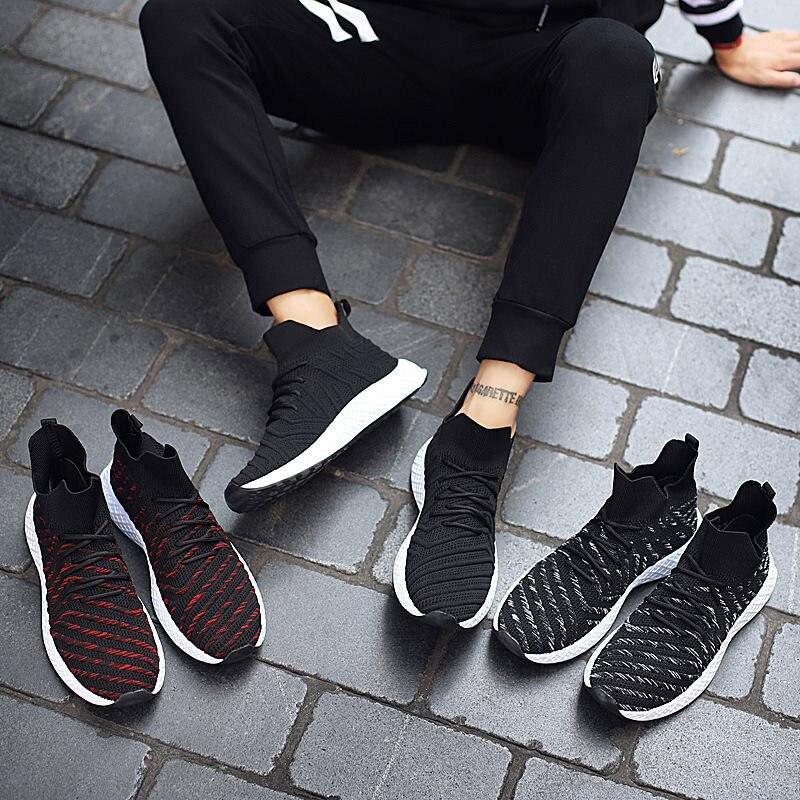 Mesh Mode rouge Chaussures Adulto Hommes Tenis Noir Krasovki 2019 Printemps Lumière Sneakers Masculino Casual blanc Respirant wqXttxfTa