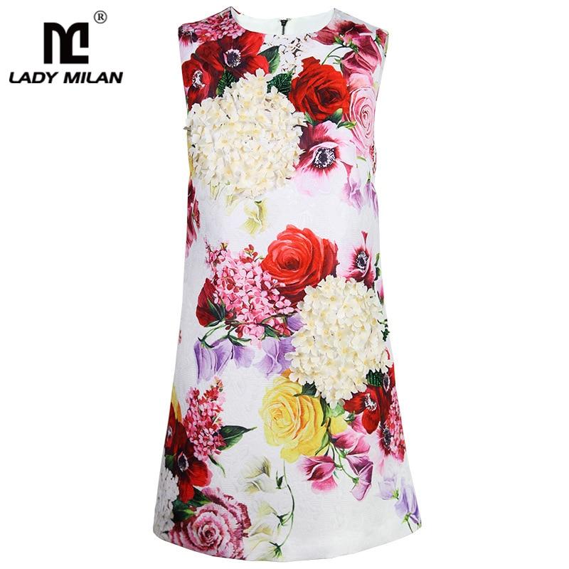 Piste Fashion Sans Décontractées Une Multi Robe Street Floral Ligne Cou O De 2019 Robes Femmes High Imprimé Manches 5wU6n6p