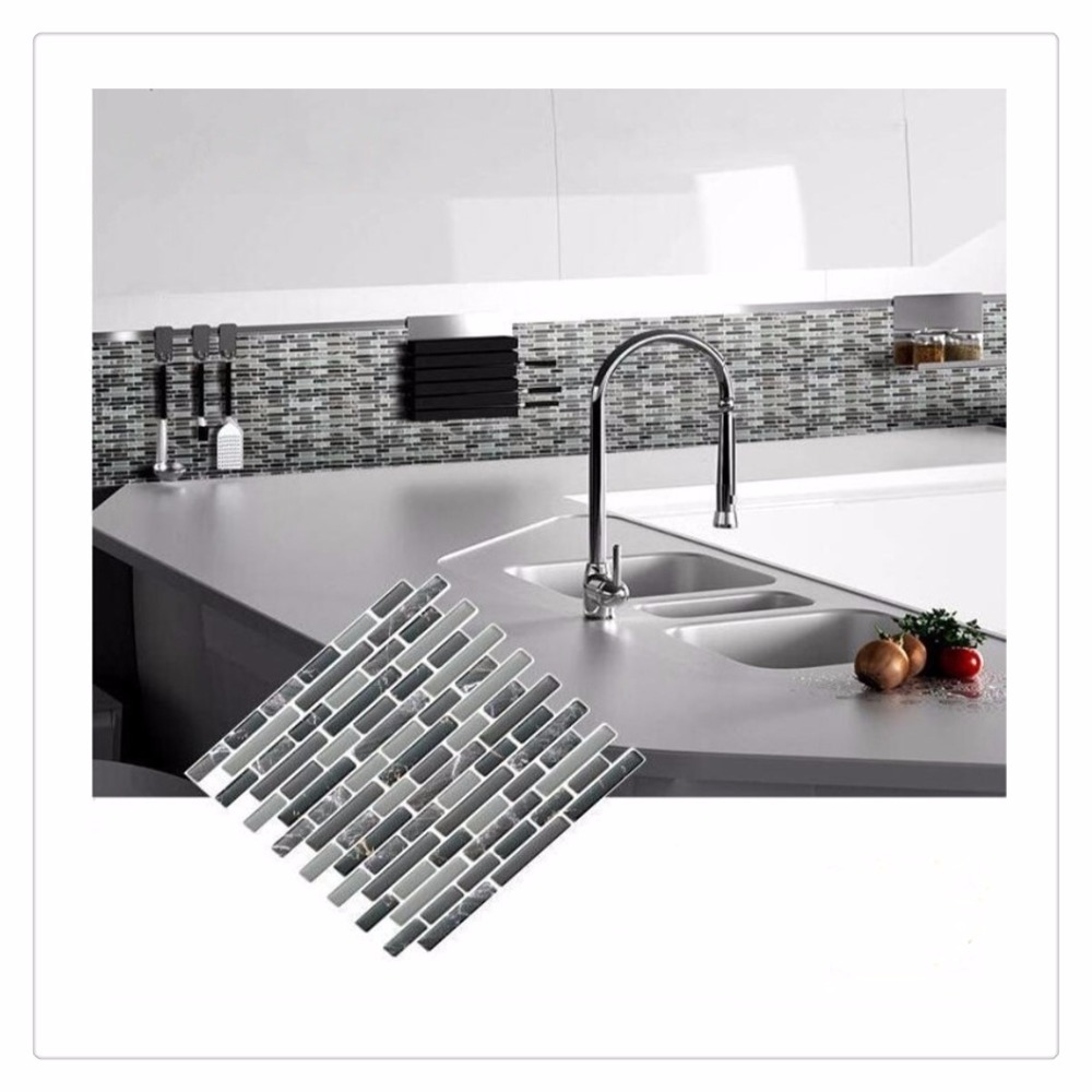 kitchen wall tile stickers self adhesive mosaic tile wall decal sticker diy kitchen 6449