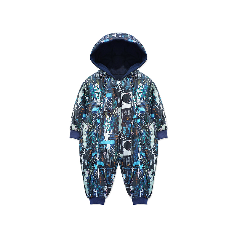 Yingzifang 2017 Winter Baby Clothing New Newborn Baby Boy Girl Romper Clothes Long Sleeve Single Breasted Hooded Infant Product newborn baby clothes winter long sleeves with feet baby boy girl clothes babies overalls ropa de bebe infant product baby romper