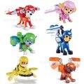 Cão filhote de cachorro do cão de patrulha 3.5 polegada air rescue team + escudo funko pop anime figura brinquedos de ação & toy figuras lps 6 pcs PVC