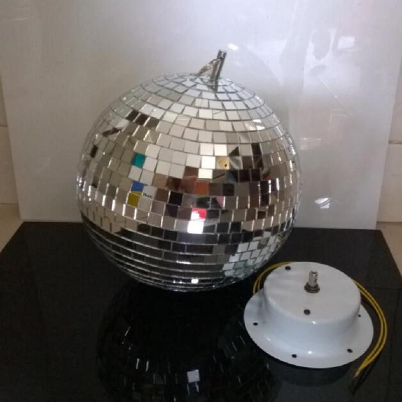 25 cm boule de verre réfléchissante lumière LED Disco boule de cristal miroir effet d'éclairage de scène