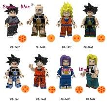 Single Building Blocks Dragon Ball Z Black goku Naba Sun Wukong Badak Dales Learning Cartoon Series toys for children(China)