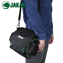 JAKAH Wholesale Thicken Oxford Canvas Multifunction Tool Pouch Bag Shoulder Strap Tool Bag Backpack Free Shipping multifunctional electrical bag tools case 17 39x21x28cm oxford bag electrician canvas tool bag toolkit free shipping