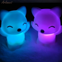 Светодиодный светильник в форме лисы, 7 меняющихся цветов, украшение для спальни, подарок для ребенка, Романтический Красочный светильник, декор для свадебной вечеринки