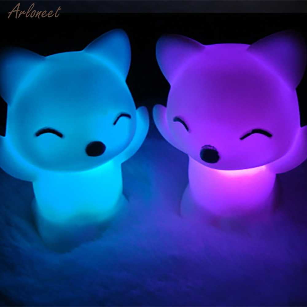 LED Toys 7 Changing Colors Lovely Fox Shape Lovely Bedroom decoration For Baby Gift Romantic Colorful Light Wedding Party Decor