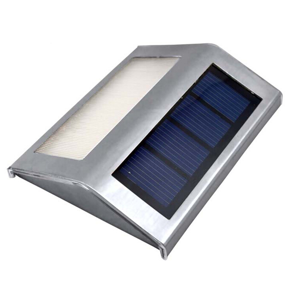 Solar Power LEDs Outdoor Waterproof Garden Pathway Stairs Lamp Light Energy Saving LED Solar Wall Lamp Warm White Cold White
