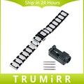 18mm 20mm 22mm correa de reloj de cerámica + mejorado enlace correa removedor universal butterfly hebilla de cinturón de pulsera negro de oro rosa de plata