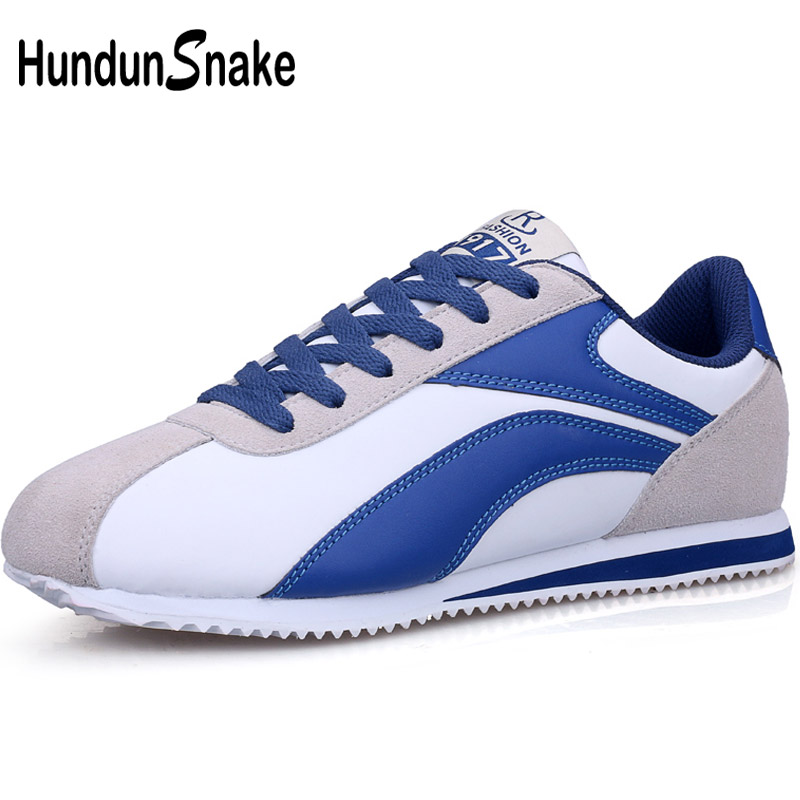 Hundunsnake Man Sneakers 2018 White Leather Shoes Men Sports Shoes For Male Running Shoes for Men Krassovki Athletic Gym T544 nike men s indee high shoes athletic sneakers leather white