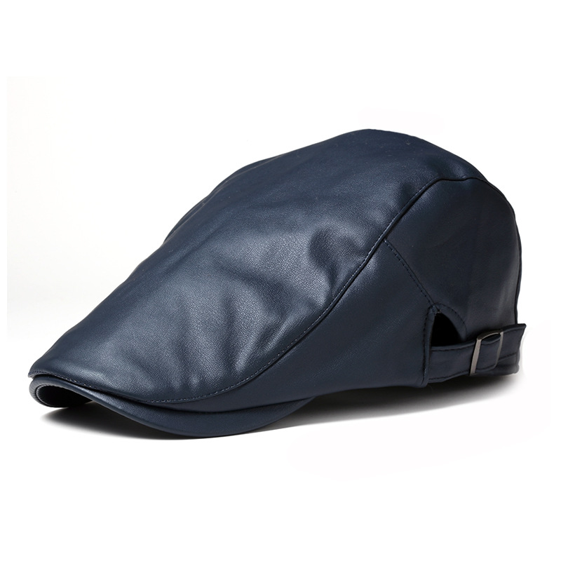 08aa3639c US $8.37 |2016 black male flat cap leisure men newsboy hat winter chapeau  gentleman leather beret autumn bone wholesale-in Berets from Apparel ...