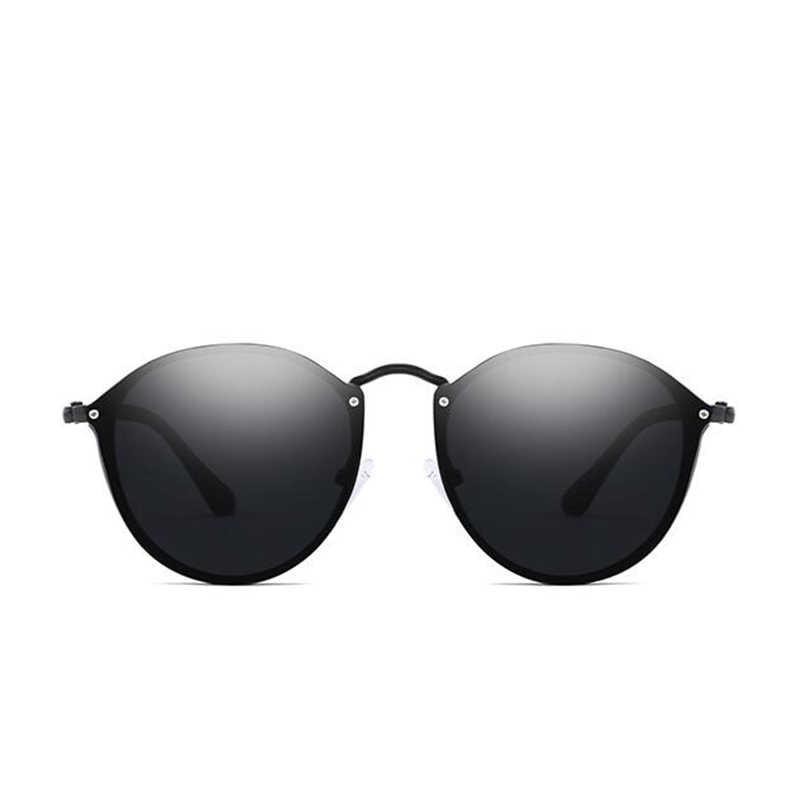 ef7878a85c ... 2019 gafas de sol redondas de lujo de marca de diseñador CatEye Retro  sin montura gafas ...