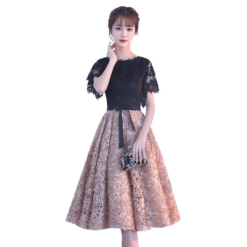 Noir chinois Oriental court Cheongsam robe de soirée élégante princesse robes moderne Qipao mariage d'été femmes Sexy broderie