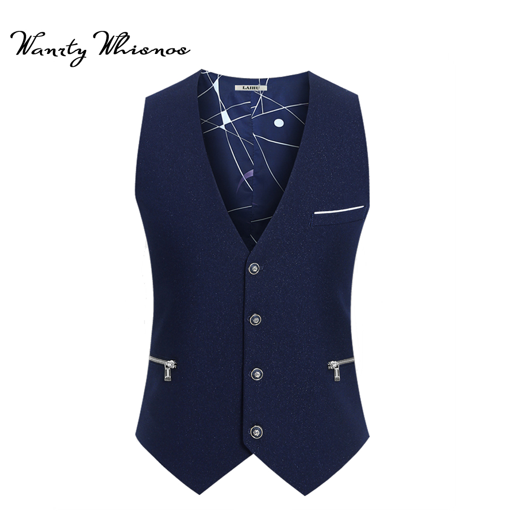 Men Suit Vest England Style Brand Men Vest For Formal Business Autumn Spring Waistcoat For Men Slim Fit Fashion Mens Vest