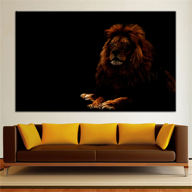 Large Size Printing Oil Painting Lion 3 Wall Decor