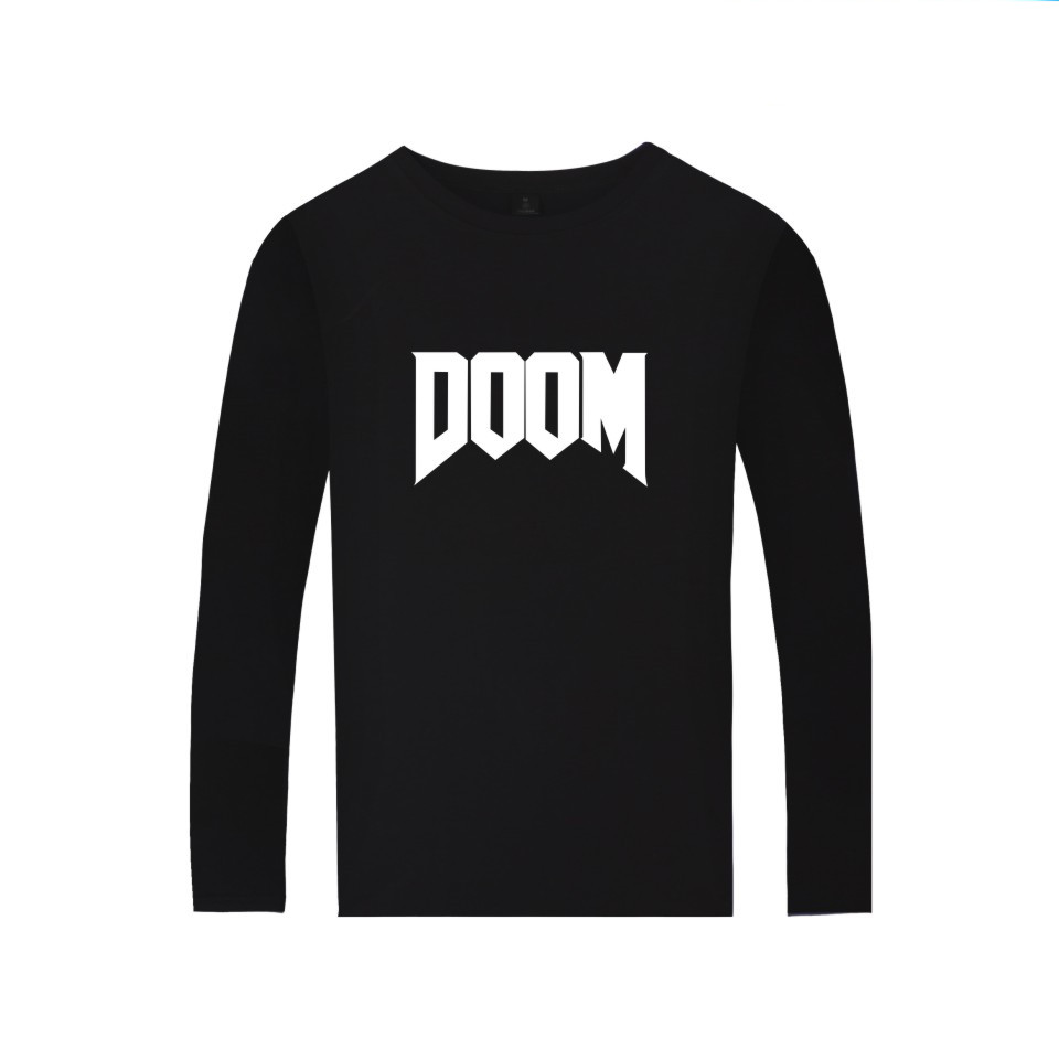First-person Shooter Game DOOM T shirt Men Women Casual Clothing Long Sleeve T-shirt DOOM DILLA Print tees image