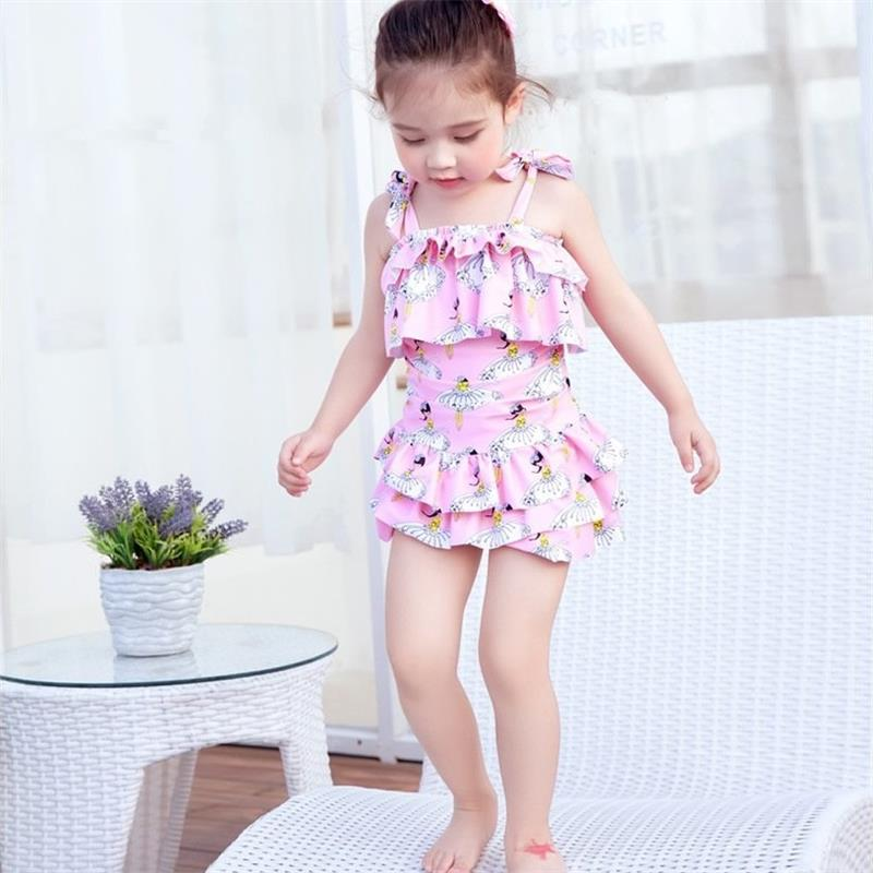 New Sweet Princess Kids Swimsuit Quality One-piece Girls Lovely Skirts Design Surfing Swimwear Bath Suit Children Beachwear spider man style surfing clothes for 3 10y little boys kids one piece beachwear swimwear high quality children clothing