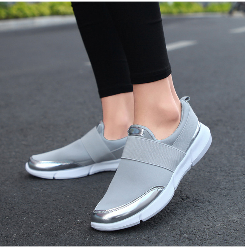 HTB1hydPKf9TBuNjy1zbq6xpepXaR Spring Autumn Women Slip On Loafers Ladies Casual Comfortable Flats Female Breathable Stretch Cloth Shoes Fashion Zapatillas