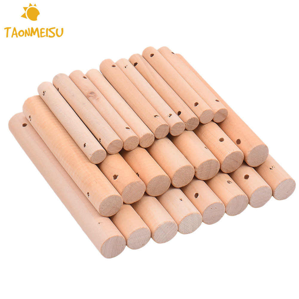 10pcs/pack DIY Pet Puzzle Assemble Sticks toy accessories for Pet  Multipurpose DIY Bird Toy Accessories for Decorations