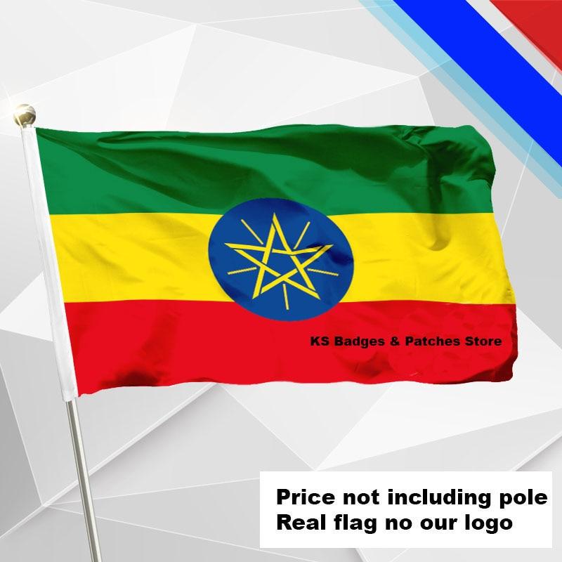 3x5ft #1 288x192 #2 240x160 #3 192x128 #5 96x64 #6 60x40 #7 30x20 Ks-0010-c Auf Der Ganzen Welt Verteilt Werden Äthiopien Flagge Fliegen Flagge #4 144x96