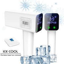 LESCOLTON Newest technology ICECOOL NO PAIN Hair Removal Permanent laser Hair Removal With LCD Displ