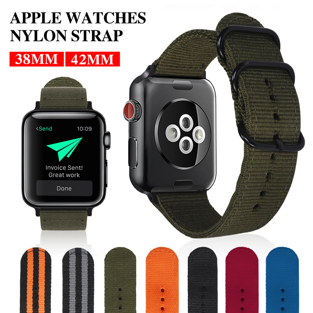 XIYUZHIYI Hot Sell Nylon Watchband for Apple Watch Band Series 3/2/1 Sport Leather Bracelet 42 mm 38 mm Strap For iwatch Band цена и фото
