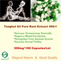 Tongkat Ali Extrato de Raiz Pura 400: 1, aumentar a Virilidade Sexual, Produtos de Saúde dos homens, 500 mg 100 CAPS