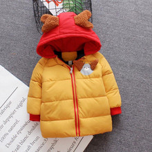 Hooded Coats Winter Clothes for Baby Girl Cotton Outerwear