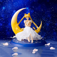 12cm Hot Sale Anime Sailor Moon Action Figure Tsukino Usagi Princess Serenity Costume Anime Figures Toy Beauty Model Doll WX329