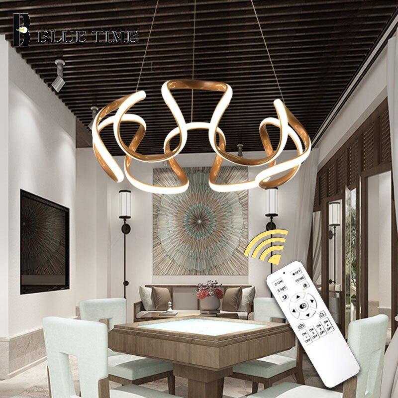 Modern Led Pendant Light Hanging Lamp Gold Light Ceiling Pendant Lamp For Home Living room Dining room Office Room Light Fixture