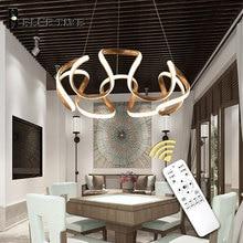 купить Modern Led Pendant Light Hanging Lamps 110v 220v Ceiling Pendant Lamp For Home Living room Dining room Office Room Light Fixture по цене 5665.76 рублей