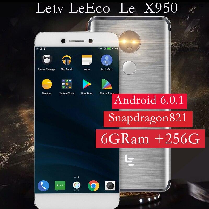 Original Letv LeEco RAM 6GB ROM 256GB X950 Dolby Atmos FDD 4G Cell Phone 5.5 inch Snapdragon821 dual camera PK X650 Max2 model