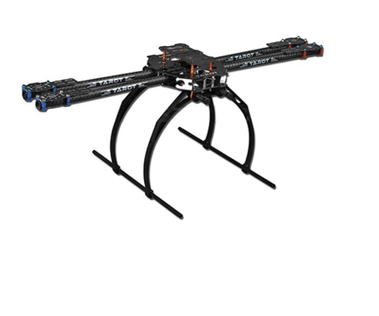 Tarot 650 Pliage 3 k En Fiber De Carbone En Aluminium Tubes Cadre Kit TL65B02 Pour DIY Drone Quadcopter Aéronefs