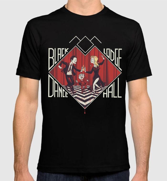Twin Peaks Black Lodge Dance T-Shirt David Lynch Dale Cooper Mens Womens Tee Short Sleeve Cool Casual