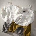 Roupas Meninos da criança Outono Luva Cheia Imprimir Top Camisa Casual Colapso Pant 2 pcs 2-7Years Meninos Set Crianças Roupas de Bebê conjunto